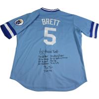 George Brett Signed Kansas City Royals Jersey with (9) Inscriptions (Beckett COA)
