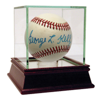 George Kelly Signed OL Baseball with High Quality Display Case (PSA Hologram)