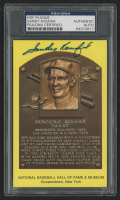Sandy Koufax Signed Hall of Fame Plaque Postcard (PSA Encapsulated)