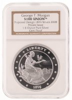 2011 George T. Morgan 1 oz Silver $100 Union Coin (NGC Gem Proof)