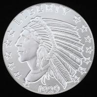 """5 Troy Ounce .999 Fine Silver """"Indian Head"""" Bullion Round"""
