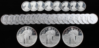 Lot of (29) Coins with (3) One Troy Ounce .999 Fine Silver Round & (26) One-Tenth Troy Ounce .999 Fine Silver Round