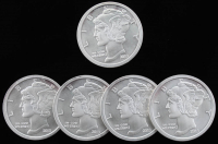 Lot of (5) One Troy Ounce .999 Fine Silver Round
