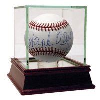 "Hank Aaron Signed OML Baseball Inscribed ""HOF 82"" & ""755"" with High Quality Display Case (Steiner COA) at PristineAuction.com"