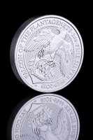 2019 2 oz British Silver Queen's Beast Falcon of the Plantagenets Coin (Brilliant Uncirculated)