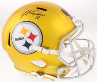 James Harrison Signed Pittsburgh Steelers Full-Size Blaze Speed Helmet (TSE COA)