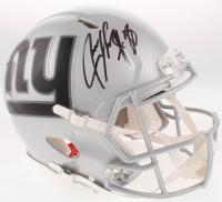 Jeremy Shockey Signed New York Giants Full-Size Custom Speed Helmet (JSA COA)