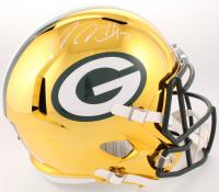 Davante Adams Signed Green Bay Packers Full-Size Chrome Speed Helmet (JSA COA)