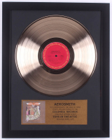 "Aerosmith Custom Framed 15.75x19.75 Gold Plated ""Toys in the Attic"" Record Album Award Display"