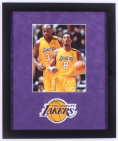 Kobe Bryant & Shaquille O'Neal Lakers 16x19 Custom Framed Photo with Patch