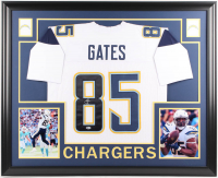 Antonio Gates Signed Los Angeles Chargers 35x43 Custom Framed Jersey (Beckett Hologram)(Imperfect)