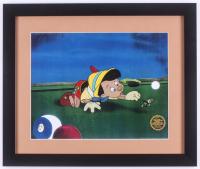 "Walt Disney's ""Pinocchio"" 16x19 Custom Framed Animation Serigraph Display"