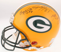 "Green Bay Packers Full-Size Authentic Helmet Signed By (5) with Paul Hornung, Aaron Rodgers, Charles Woodson, Clay Matthews & Donald Driver Inscribed ""HOF 81"" (JSA LOA)"