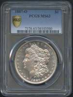 1887-O $1 Morgan Silver Dollar (PCGS MS 63)