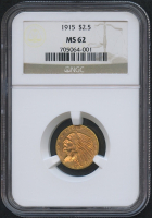 1915 $2.50 Indian Quarter Eagle Gold Coin (NGC MS 62)