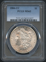 1884-CC $1 Morgan Silver Dollar (PCGS MS 63)