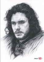 """Thang Nguyen - Jon Snow """"Game of Thrones"""" 8x12 Signed Limited Edition Giclee on Fine Art Paper #/25"""