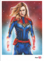 Thang Nguyen - Captain Marvel 8x12 Signed Limited Edition Giclee on Fine Art Paper #/25