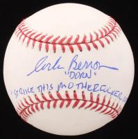 """Corbin Bernsen Signed OML Baseball Inscribed """"Dorn"""" & """"Strike This Mother*****r Out"""" (JSA COA)"""