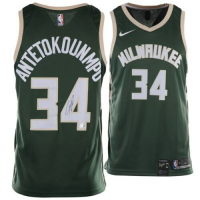Giannis Antetokounmpo Signed Milwaukee Bucks Nike Jersey (Fanatics Hologram) at PristineAuction.com
