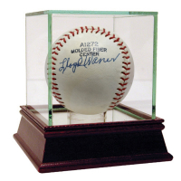 Lloyd Waner Signed Baseball with High Quality Display Case (PSA Hologram)
