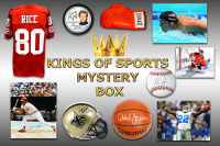 Kings of Sports Autograph Mystery Box - Series 1 (Limited to 75)(5 Autographs/2 or More Hall of Famers Per Box)