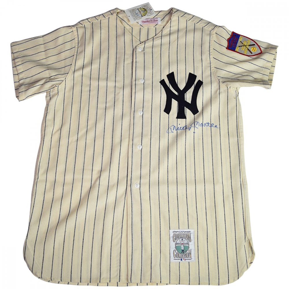 Mickey Mantle Signed New York Yankees Mitchell & Ness Jersey (JSA Hologram) at PristineAuction.com