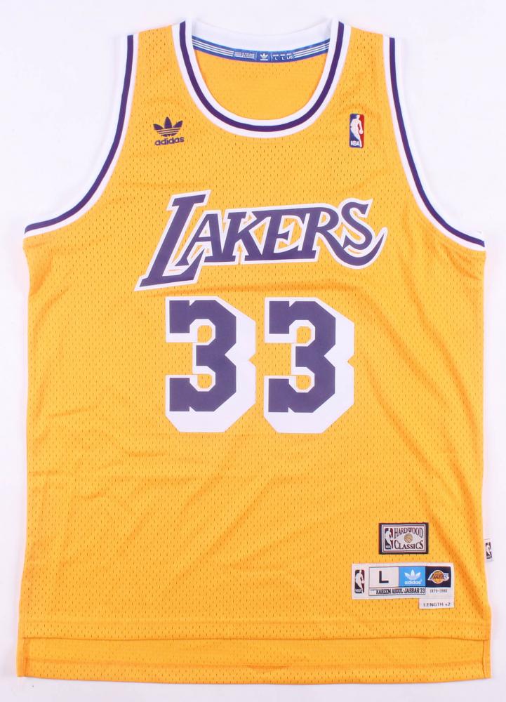 66d0dceaf Kareem Abdul-Jabbar Signed Los Angeles Lakers Adidas Jersey Inscribed