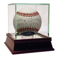 "Mickey Mantle Signed Hand Painted Baseball Inscribed ""H.O.F. 1974"" with High Quality Display Case (JSA Hologram & PSA Hologram)"