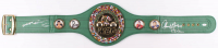 "Thomas ""Hitman"" Hearns & ""Sugar"" Ray Leonard Signed Full-Size WBC Heavyweight Championship Belt (JSA Hologram)"