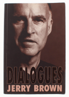 "Jerry Brown Signed ""Dialogues"" Paperback Cover Book (JSA COA) at PristineAuction.com"