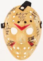 "Jason ""Friday the 13th"" Hockey Mask Signed By (7) with Kane Hodder, Tom Morga, Ted White, Ari Lehman with Multiple Inscriptions (JSA LOA)"
