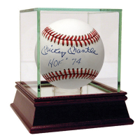 Mickey Mantle Signed OAL Baseball with High Quality Display Case (JSA Hologram & PSA Hologram)