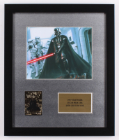 """""""Star Wars: A New Hope"""" 16x19 Custom Framed Photo with 23 Kt Gold Card"""