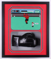 Mike Tyson Signed 22x26x5 Custom Framed Everlast Boxing Glove Shadowbox Display (Fiterman Hologram)