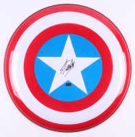 "Stan Lee Signed ""Captain America"" Marvel Authentic Full-Size Metal Shield (Radtke COA)"