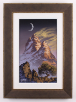 "Jon Rattenbury Signed ""Windswept Peaks"" 21x29 Custom Framed Acrylic on Canvas (PA LOA)"