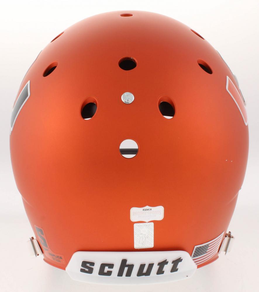Ray Lewis Signed Miami Hurricanes Full-Size Helmet (Radtke