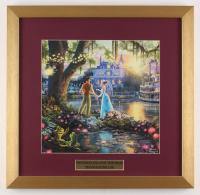 "Thomas Kinkade Walt Disney's ""The Princess and the Frog"" 17.5x18 Custom Framed Print"
