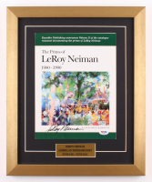 LeRoy Neiman Signed 14.5x17.5 Custom Framed Catalogue Display (PSA COA)