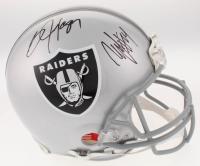 Marshawn Lynch & Bo Jackson Signed Oakland Raiders Full-Size Authentic On-Field Helmet (Radtke COA & Jackson Hologram) at PristineAuction.com