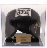 Julio Cesar Chavez Signed Everlast Headgear with Display Case (JSA COA)