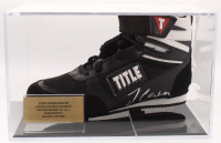 Julio Cesar Chavez Signed Title Boxing Shoe with Display Case (JSA COA)