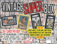 "SC ""VINTAGE SUPER BOX"" 1943-69 Baseball Card Mystery Box - 30+ CARDS PER BOX! at PristineAuction.com"