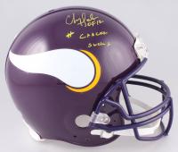 "Chris Doleman Signed Minnesota Vikings Full-Size Throwback Helmet Inscribed ""#CancerSucks"" & ""HOF 12"" (Radtke COA) at PristineAuction.com"