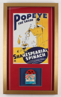 Popeye the Sailor 17x28 Custom Framed Film Reel Display