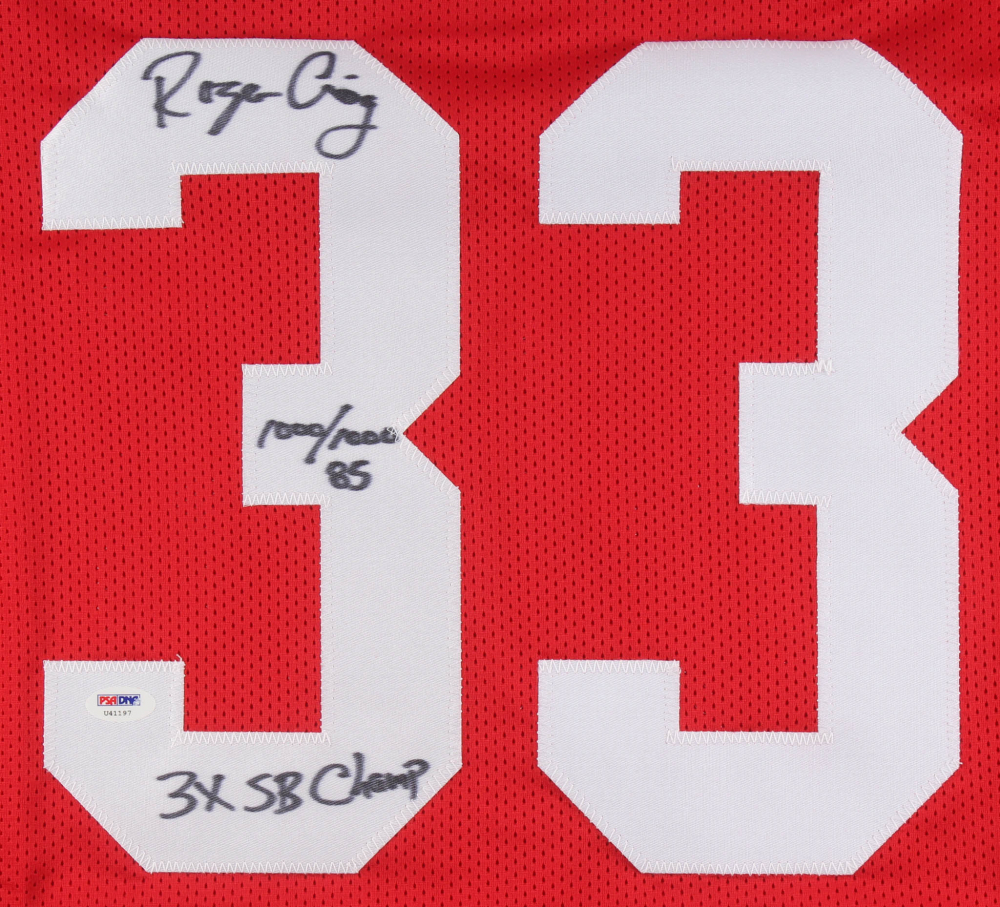 08b2b7d08 Roger Craig Signed San Francisco 49ers Jersey Inscribed