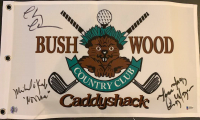 """Chevy Chase, Cindy Morgan, & Michael O'Keefe Signed """"Caddyshack"""" Golf Pin Flag Inscribed """"Lacy"""" & """"Noonan"""" (Beckett COA & Chase Hologram)"""