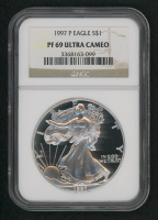 1997-P American Silver Eagle $1 One-Dollar Coin (NGC PF69 Ultra Cameo)