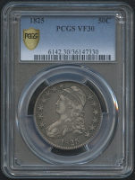 1825 50¢ Capped Bust Half Dollar (PCGS VF 30) at PristineAuction.com